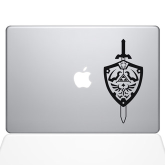 Zelda Shield Macbook Decal Sticker Black