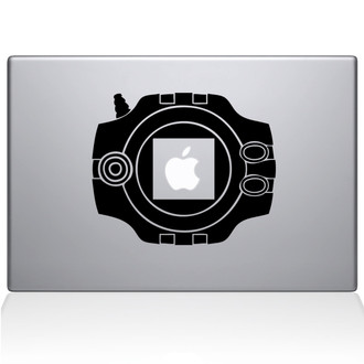 Digimon Device Macbook Decal Sticker Black