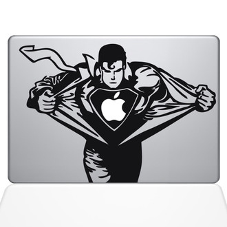 Superman Macbook Decal Sticker Black