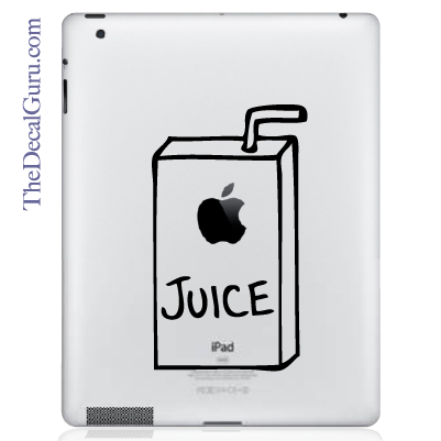 Apple Juice iPad Decal