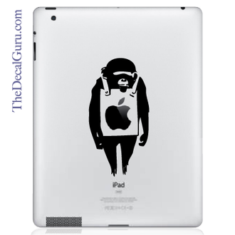 Banksy Monkey iPad Decal