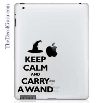 Keep Calm and Carry a Wand iPad Decal sticker
