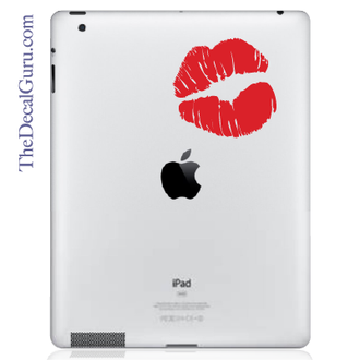 Kissy Lips iPad Decal sticker