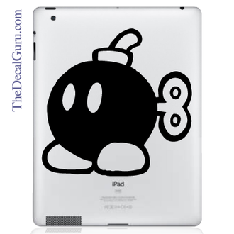 Mario Bomber iPad Decal sticker