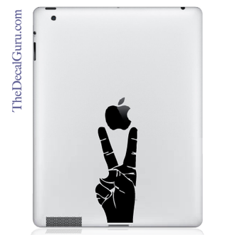 Peace Sign Hand iPad Decal