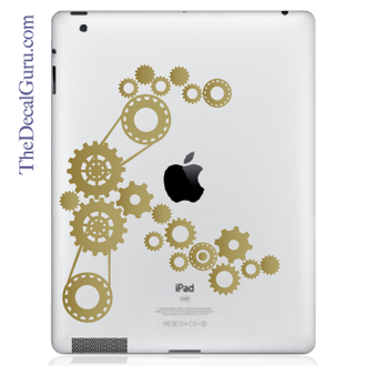 Steampunk Gears iPad Decal