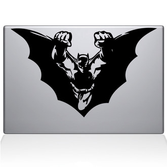Batman Flying Macbook Decal Sticker Black
