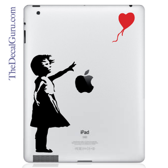Banksy Girl & Balloon iPad Decal