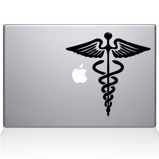 Medical Symbol Macbook Decal Sticker Black