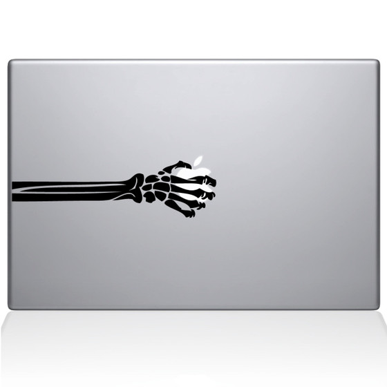 Skeleton Hand Macbook Decal Sticker Black