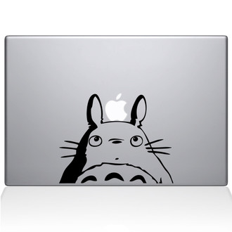 Totoro Head Macbook Decal Sticker Black