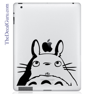 Totoro Head iPad Decal sticker