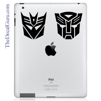 Transformers iPad Decal sticker