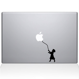 Balloon of Hope Girl Macbook Decal Sticker Black