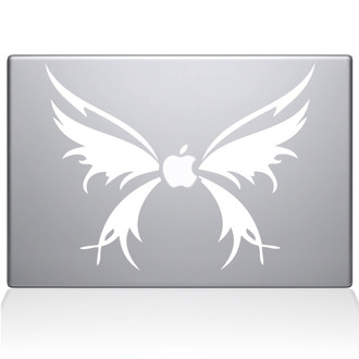 Butterfly Wings Macbook Decal Sticker White