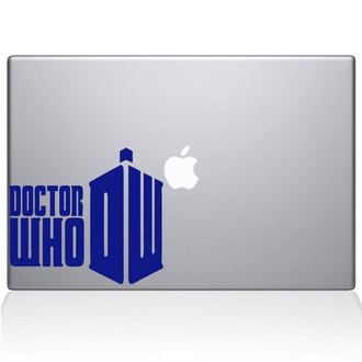 Doctor Who Macbook Decal Sticker Dark Blue