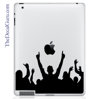 Rock On Crowd iPad decal sticker