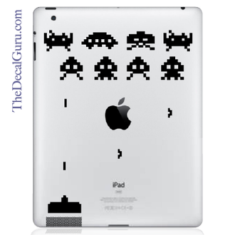 Space Invaders iPad Decal sticker