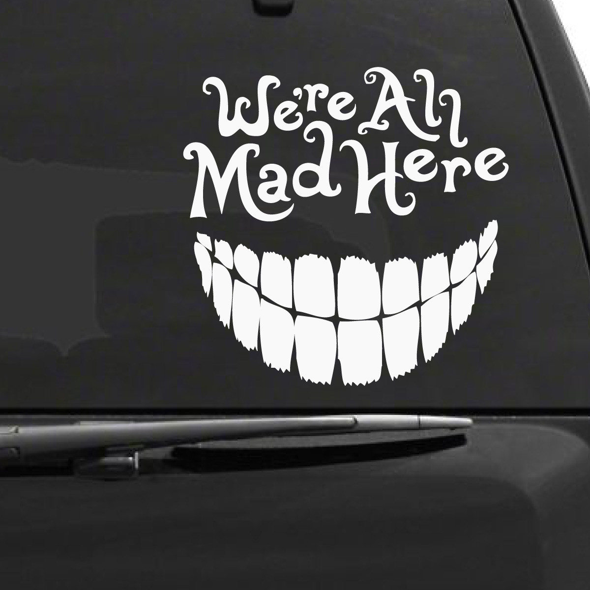 Wall Stickers Family Quotes Alice In Wonderland Cheshire Cat Car Decal The Decal Guru