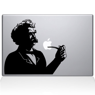 Mark Twain Macbook Decal Sticker Black