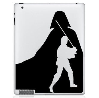 Luke Skywalker and Darth Vader iPad Decal