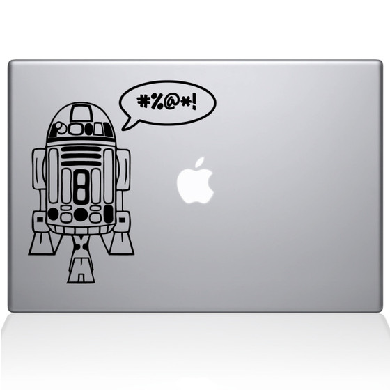 R2D2 Macbook Decal Sticker Black