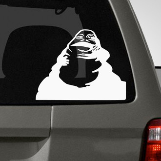 Amazon Com Bargain Max Decals Wookie Head Silhouette Sticker Decal Notebook Car Laptop 5 5 White Automotive
