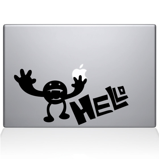 Hello Creature Macbook Decal Sticker Black