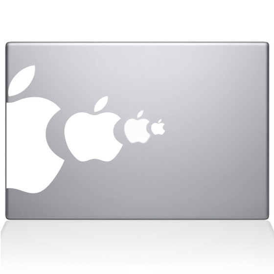 Apple Eat Apple Macbook Decal Sticker White