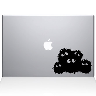 Fuzzies Macbook Decal Sticker Black