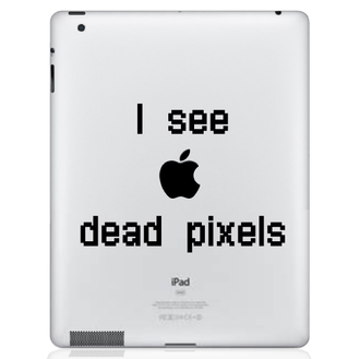 I See Dead Pixels IPad Decal Sticker