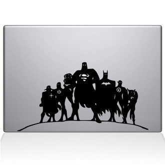 Justice League Macbook Decal Sticker Black