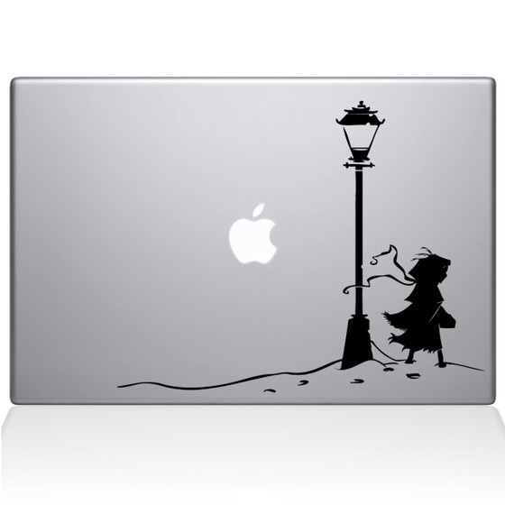 The Chronicles Narnia Lamppost Macbook Decal Sticker Black