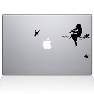 Moonlight Melodies Macbook Decal Sticker Black