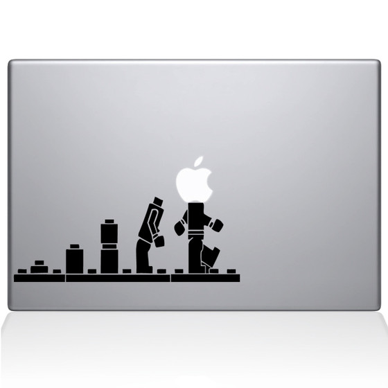 Lego Evolution Macbook Decal Sticker Black