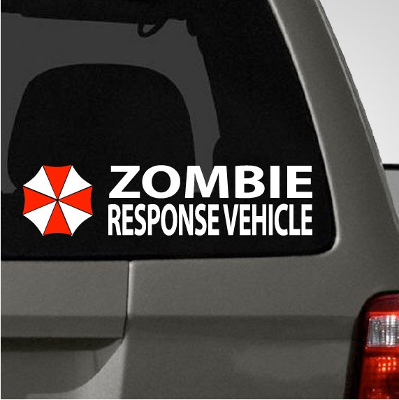 Umbrella Zombie Response Car Decal The Decal Guru