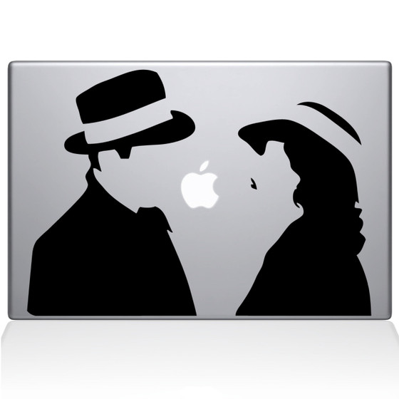 Love at First Sight Macbook Decal Sticker Black