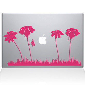 Spring Flowers Macbook Decal Sticker Pink