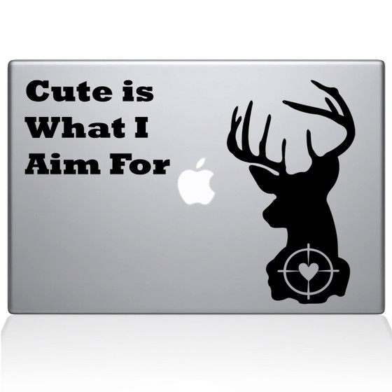 Deer Hunting Macbook Decal Sticker Black