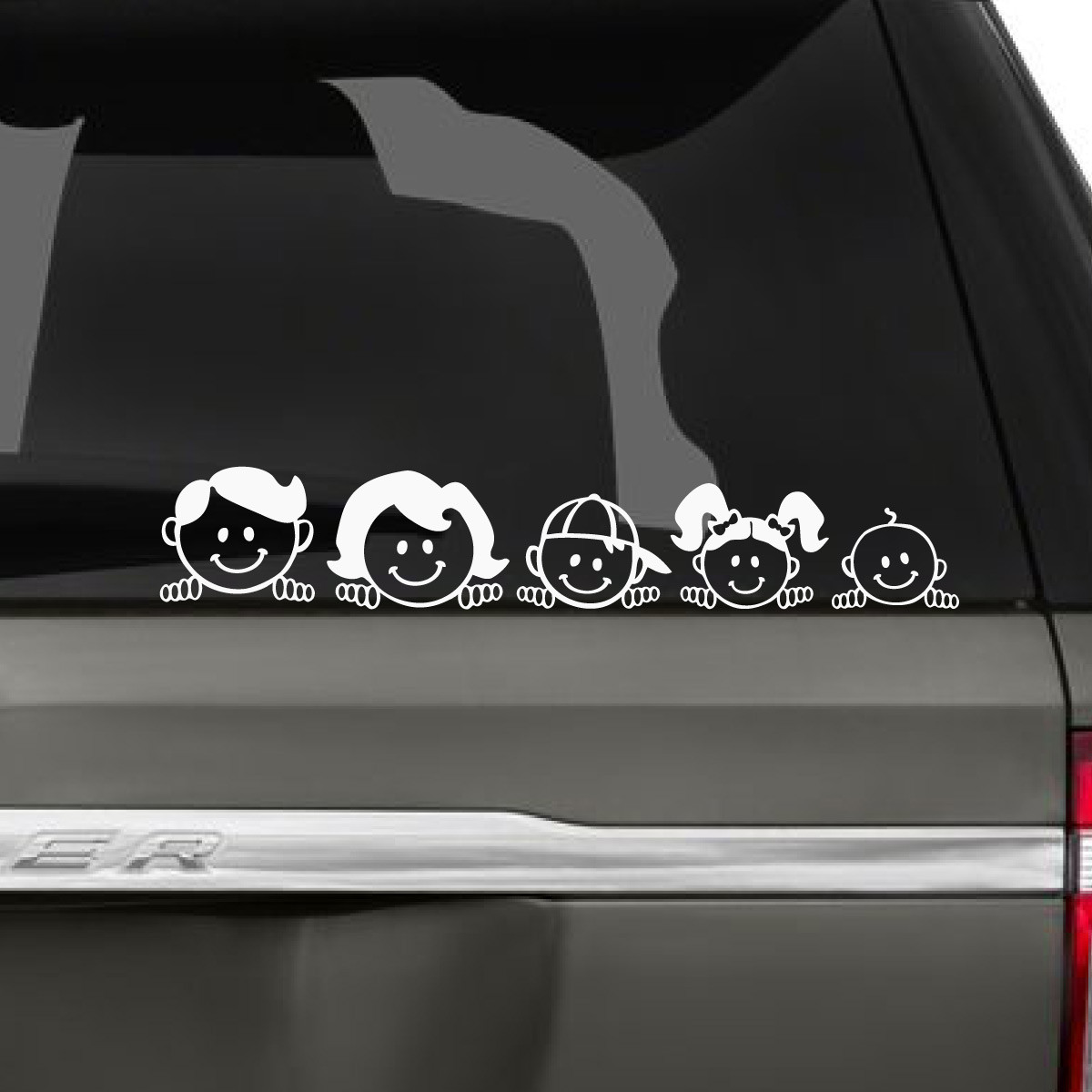 Peeping family car decal