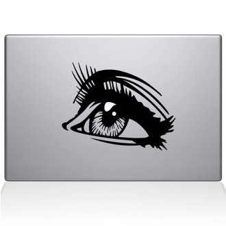 Comicbook Eye Macbook Decal Sticker Black