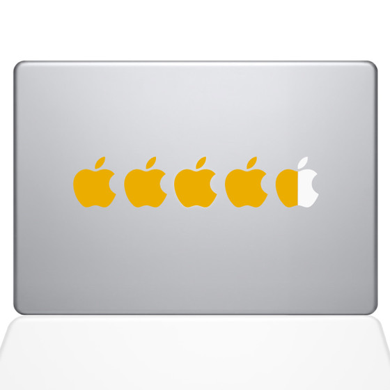 Five Star Macbook Decal Sticker Yellow
