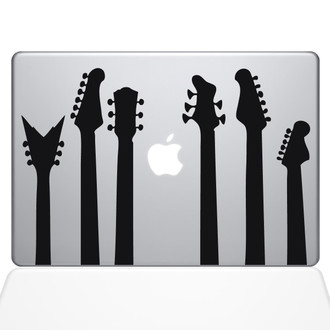 Guitar Band Macbook Decal Sticker Black
