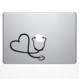 Heart Doctor Macbook Decal Sticker Black