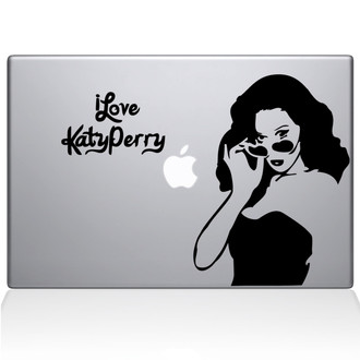 I love Katy Perry Macbook Decal Sticker Black