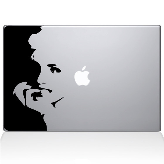 Marilyn Monroe Outline Macbook Decal Sticker Black