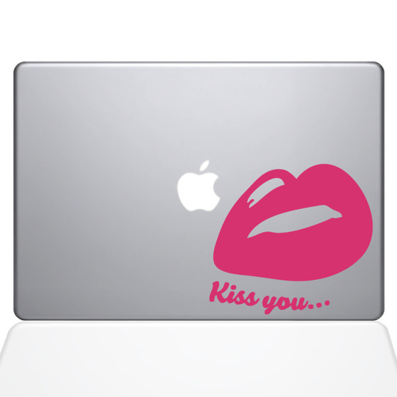 Lips mouth Macbook Decal sticker Pink