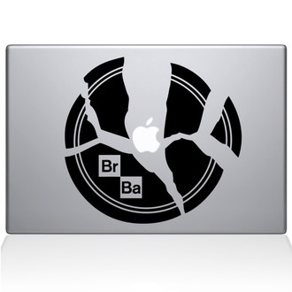 Breaking Bad Plate Macbook Decal Sticker Black