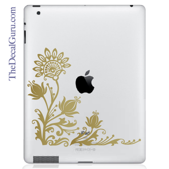 Flowery Eye iPad Decal