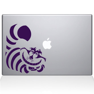 Alice in Wonderland Cheshire Cat Macbook Decal Sticker Purple